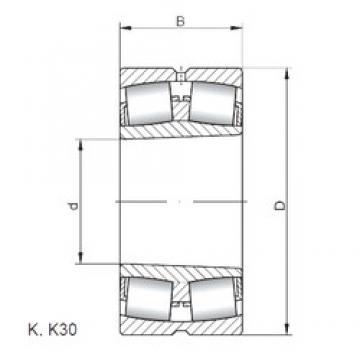 380 mm x 520 mm x 106 mm  ISO 23976 KW33 spherical roller bearings