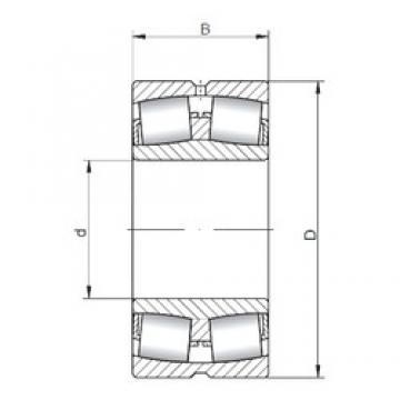380 mm x 560 mm x 135 mm  ISO 23076W33 spherical roller bearings