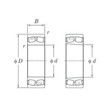 280 mm x 420 mm x 106 mm  KOYO 23056RK spherical roller bearings