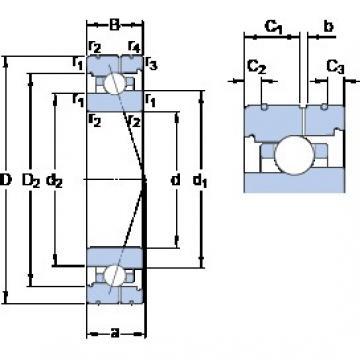 95 mm x 130 mm x 18 mm  SKF 71919 CB/HCP4AL angular contact ball bearings