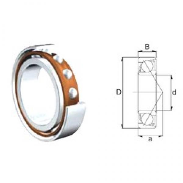 30 mm x 62 mm x 16 mm  ZEN S7206B angular contact ball bearings #3 image