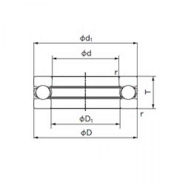 NACHI 2902 thrust ball bearings #1 image