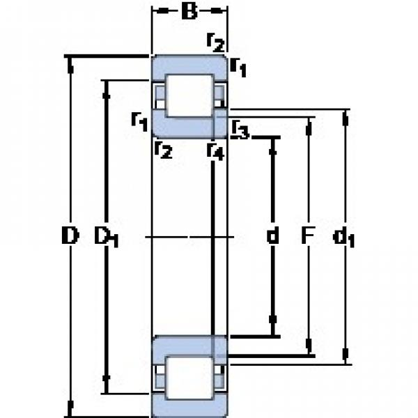 40 mm x 90 mm x 23 mm  SKF NUP 308 ECM thrust ball bearings #1 image