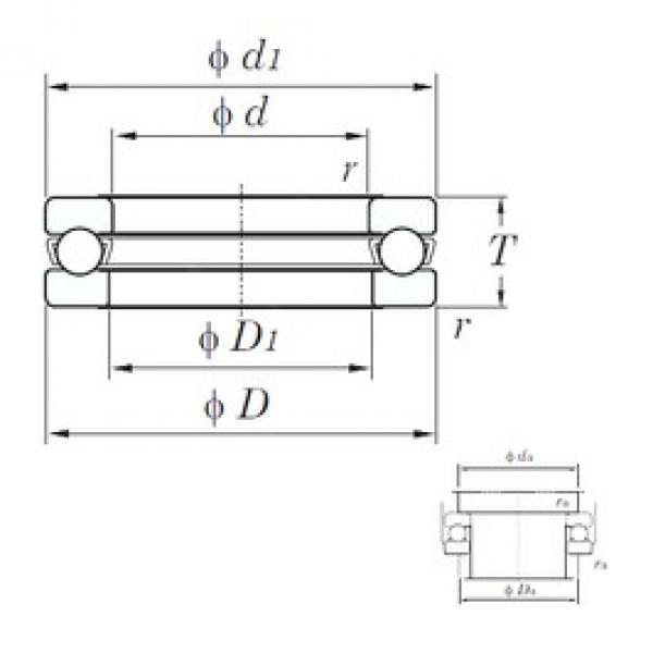 KOYO 51126 thrust ball bearings #1 image