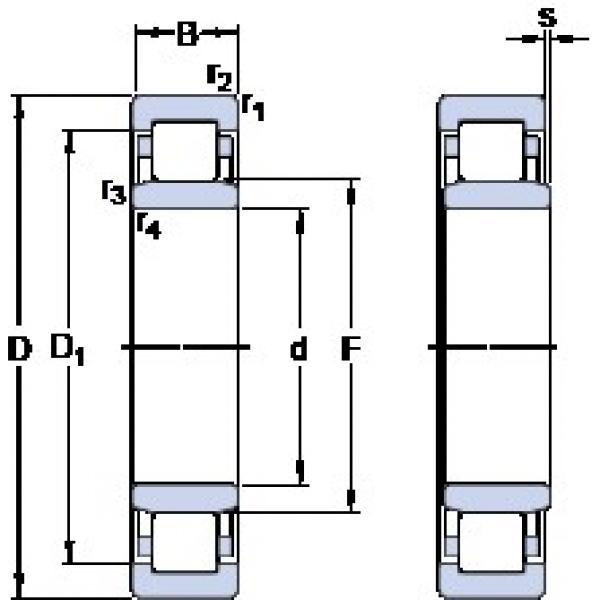 40 mm x 110 mm x 27 mm  SKF NU 408 thrust ball bearings #1 image
