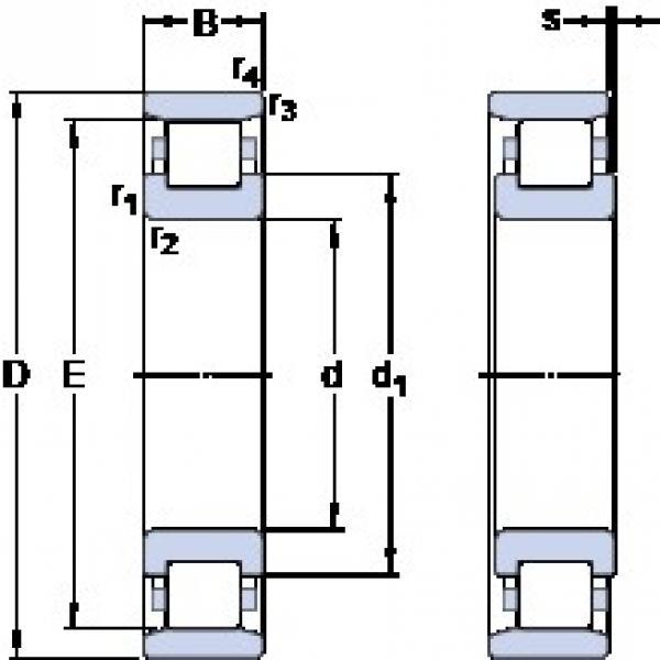 85 mm x 150 mm x 28 mm  SKF N 217 ECM thrust ball bearings #1 image