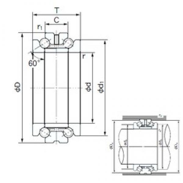 NACHI 103TAD20 thrust ball bearings #1 image