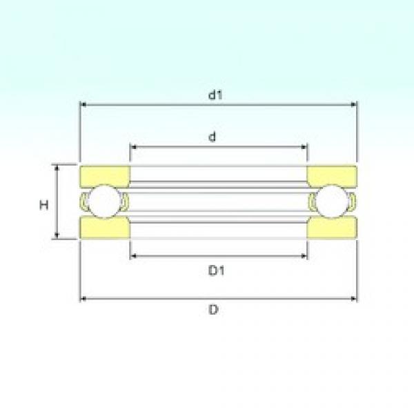 ISB 51416 M thrust ball bearings #1 image