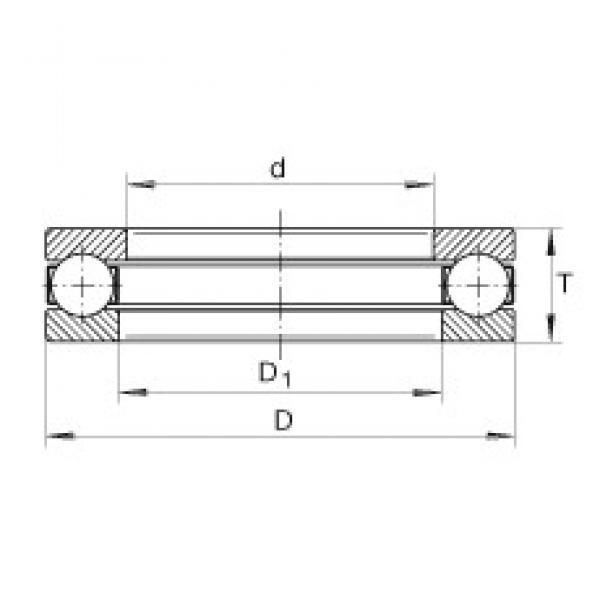 INA GT16 thrust ball bearings #1 image