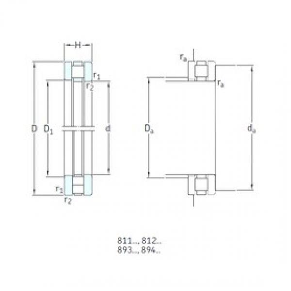140 mm x 240 mm x 20,5 mm  SKF 89328M thrust roller bearings #3 image