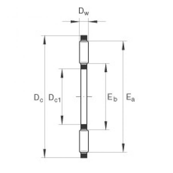 INA AXK160200 thrust roller bearings #3 image