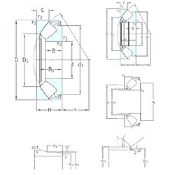 280 mm x 440 mm x 62 mm  SKF 29356E thrust roller bearings #3 image