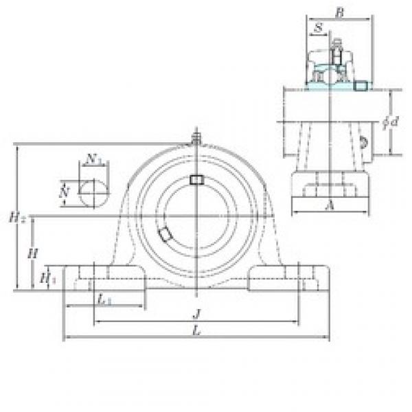 KOYO UCP314 bearing units #3 image