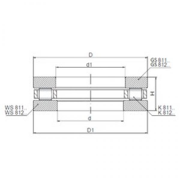 ISO 81114 thrust roller bearings #3 image