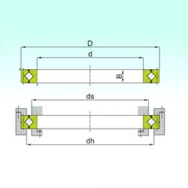 700 mm x 880 mm x 70 mm  ISB CRBC 70070 thrust roller bearings #3 image