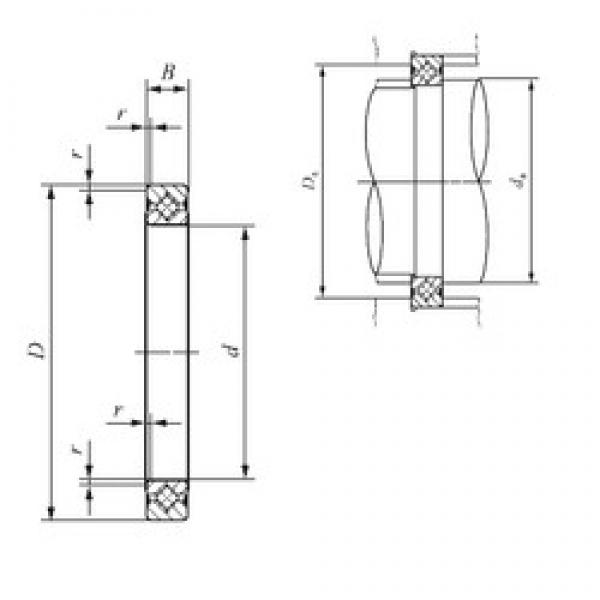 50 mm x 66 mm x 8 mm  IKO CRBS 508 V thrust roller bearings #3 image