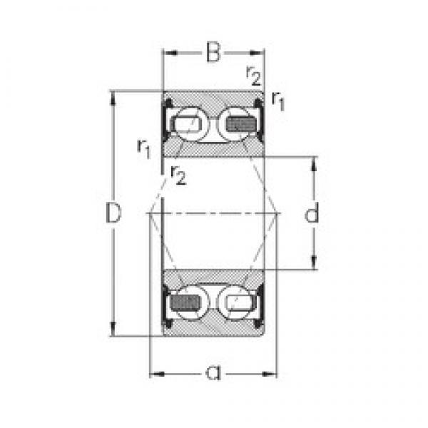 20 mm x 52 mm x 22,2 mm  NKE 3304-B-2RSR-TV angular contact ball bearings #3 image
