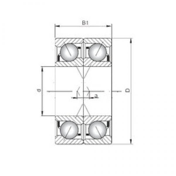 ISO 71910 CDF angular contact ball bearings #3 image