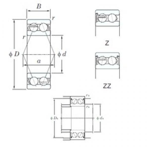 75 mm x 160 mm x 68.3 mm  KOYO 5315ZZ angular contact ball bearings #3 image