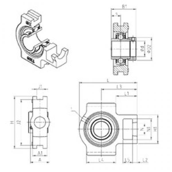 SNR EXT216 bearing units #3 image