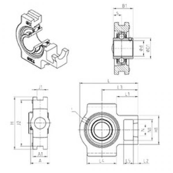 SNR UCT317 bearing units #3 image