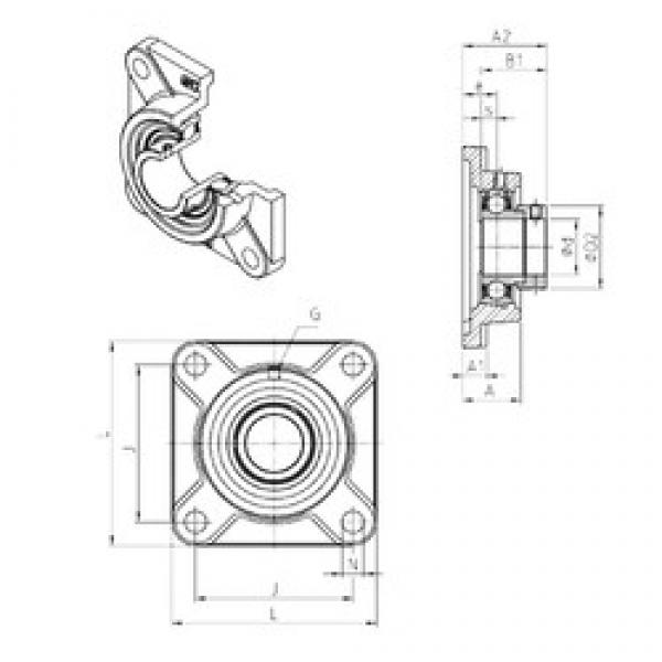 SNR ESF211 bearing units #3 image
