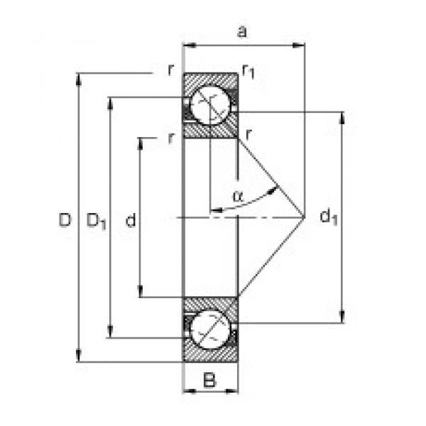 80 mm x 100 mm x 10 mm  FAG 71816-B-TVH angular contact ball bearings #3 image