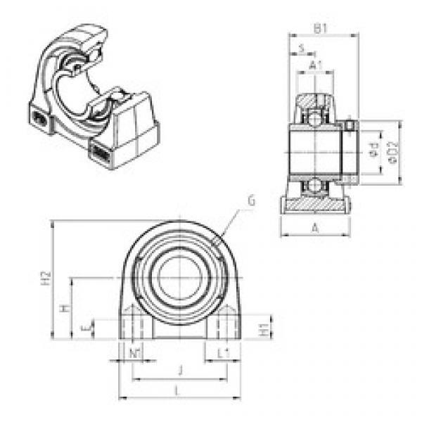SNR EXPG208 bearing units #3 image