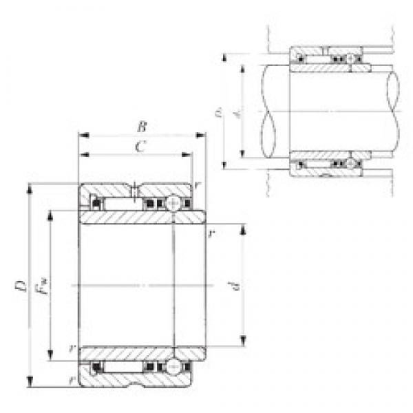 40 mm x 62 mm x 34 mm  IKO NATB 5908 complex bearings #3 image