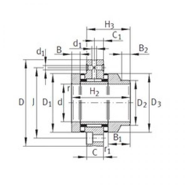 75 mm x 185 mm x 21 mm  INA ZARF75185-L-TV complex bearings #3 image