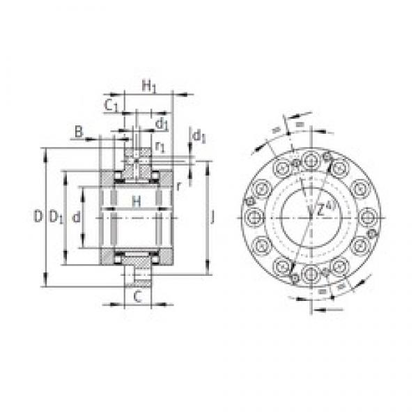 60 mm x 150 mm x 17,5 mm  INA ZARF60150-TV complex bearings #3 image