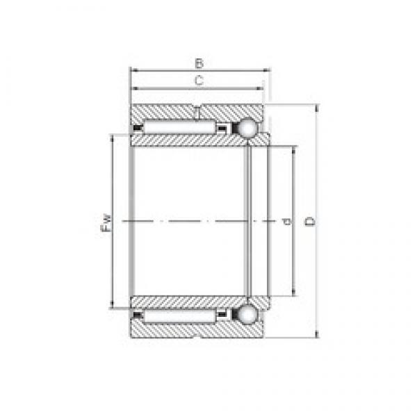 22 mm x 39 mm x 23 mm  ISO NKIB 59/22 complex bearings #3 image