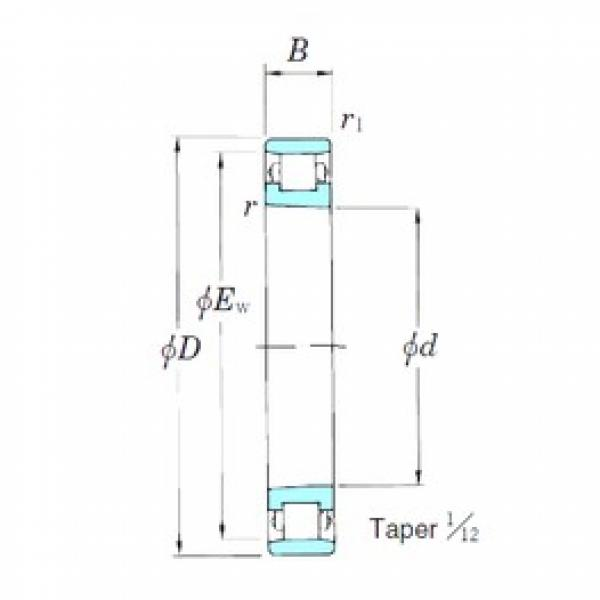100 mm x 150 mm x 24 mm  KOYO N1020K cylindrical roller bearings #3 image