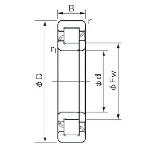 150 mm x 270 mm x 73 mm  NACHI NUP 2230 E cylindrical roller bearings #3 image