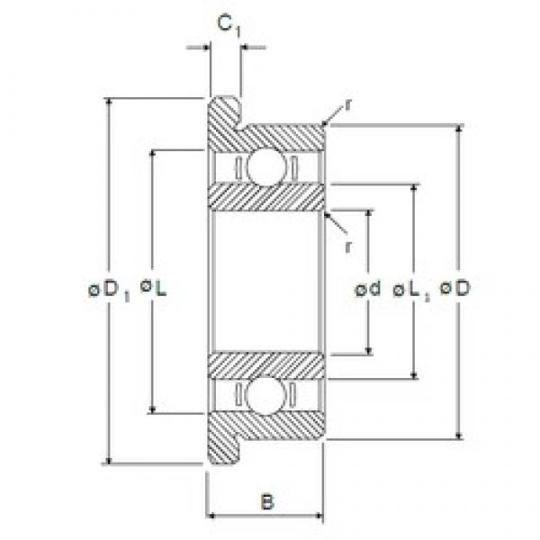 2,5 mm x 6 mm x 1,8 mm  NMB LF-625 deep groove ball bearings #3 image