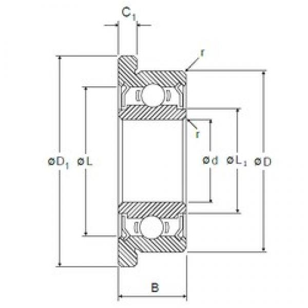 2 mm x 6 mm x 3 mm  NMB RF-620ZZ deep groove ball bearings #3 image