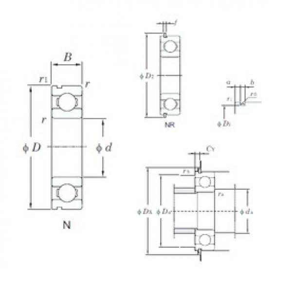 22 mm x 56 mm x 16 mm  KOYO 63/22N deep groove ball bearings #3 image