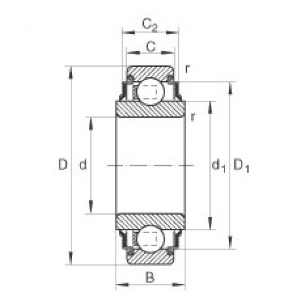 38,892 mm x 80 mm x 27,5 mm  INA 208-KRR-AH04 deep groove ball bearings #3 image