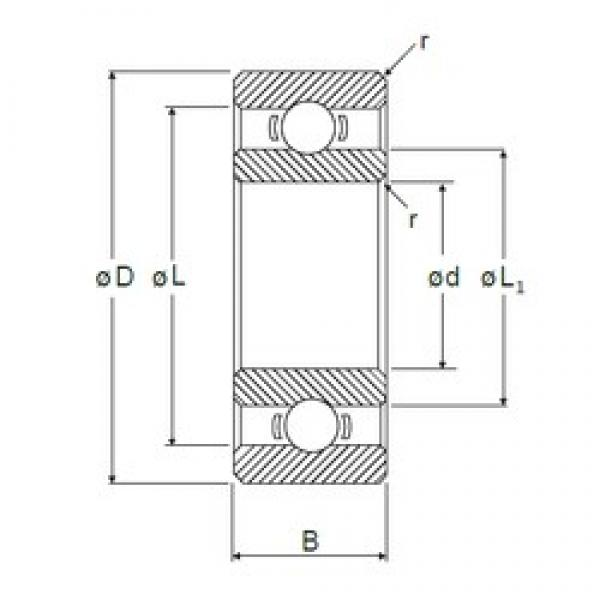 2 mm x 6 mm x 2,3 mm  NMB R-620 deep groove ball bearings #3 image