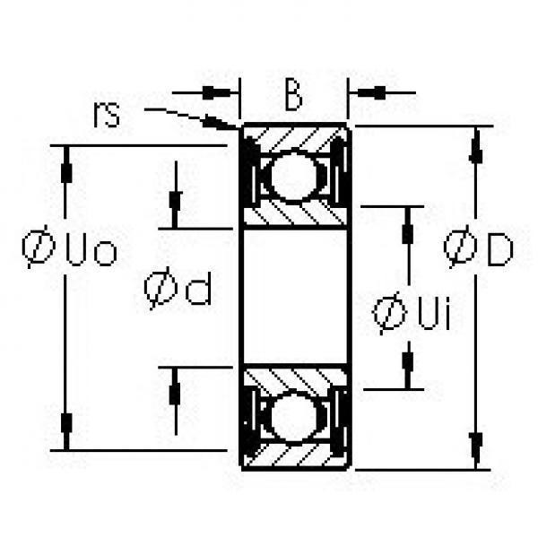 AST 606HZZ deep groove ball bearings #3 image