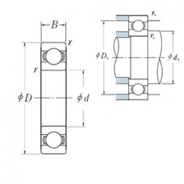 930 mm x 1250 mm x 95 mm  NSK B930-51 deep groove ball bearings #3 image
