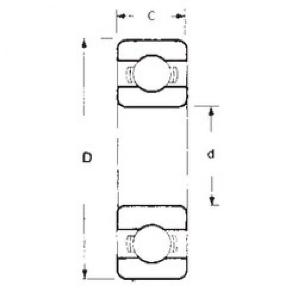 65 mm x 90 mm x 13 mm  FBJ 6913 deep groove ball bearings #3 image
