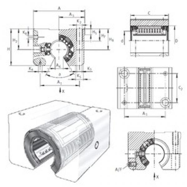 INA KGSNOS30-PP-AS linear bearings #3 image