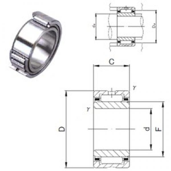 110 mm x 140 mm x 30 mm  JNS NA 4822 needle roller bearings #3 image