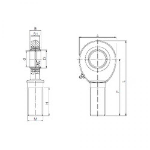 22 mm x 25,8 mm x 28 mm  ISO SA 22 plain bearings #3 image