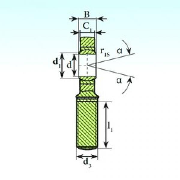 6 mm x 14 mm x 6 mm  ISB SA 6 C plain bearings #3 image