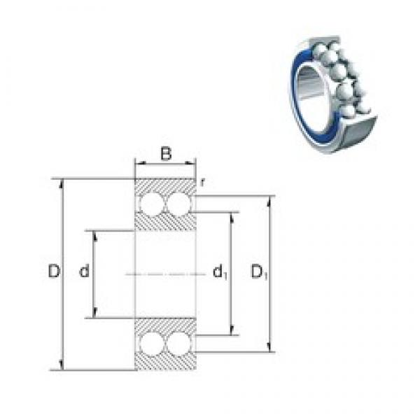 35 mm x 72 mm x 27 mm  ZEN S5207-2RS angular contact ball bearings #3 image