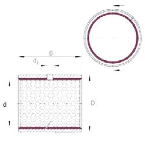 100 mm x 105 mm x 50 mm  INA EGB10050-E50 plain bearings #3 image