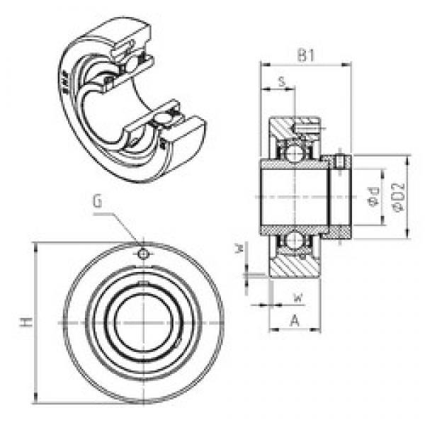 SNR EXC201 bearing units #3 image