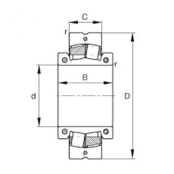 10 inch x 460 mm x 190 mm  FAG 231S.1000 spherical roller bearings #3 image